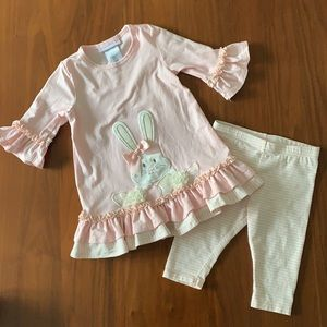 Bonnie Baby pink Easter bunny 2 piece set 24 M